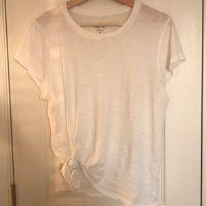 white j.crew tee - vintage cotton collection